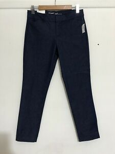 OLD NAVY PIXIE BLUE STRETCH DENIM MID ANKLE TAPERED COMFORT PANTS S 8 NWT RRP$40