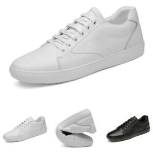 Mens Faux Leather Leisure Sneakers Boards Shoes Soft Comfy Outdoor Walking New L