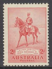 1935 Silver Jubilee King George V 2d Red MLH SG 156 (FF5)
