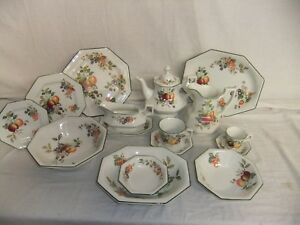 c4 Pottery Johnson Brothers - Fresh Fruit - Fine English Tableware - 6A5A