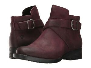 "Athleta ""Born"" Trinculo Distressed Booties ,Burgundy Distressed SIZE 7.5  E331"