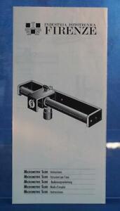 Firenze Industria Fototecnica Micrometric Slide User Manual dq