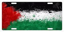 PALESTINE Flag Custom License Plate NATIONAL Emblem PAINT Version