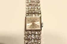 "VINTAGE RARE BEAUTIFUL LADIES SWISS MECHANICAL WATCH BRACELET ""BULER""WITH STONES"