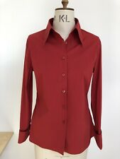 Mulberry Deep Red Uk 12 Shirt Blouse New Without Tag Cotton Stretch Cufflinks