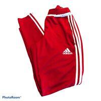 Adidas Tiro Men's Training Gym Pants Climacool Soccer Red White Stripes Sz Small