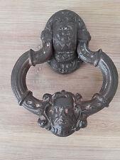 HEURTOIR de porte  ANCIEN  TÊTE DE FAUNE  FONTE acanthes