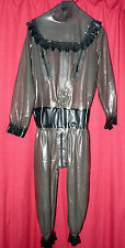 transparent latex cat suit body overall 42 48 chest chest zips TV wow