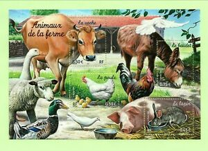FRANCE Sc 3021a NH MINISHEET of 2004 - DOMESTIC ANIMALS