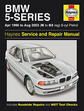 HAYNES MANUAL BMW 5-SERIES APR 96-AUG 03 N TO 63 REG 6-CYL PETROL