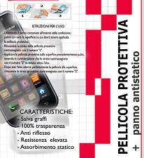 5 Pellicole proteggi LCD per HTC DIAMOND P3700 P3100 + 5 panni ANTISTATICO