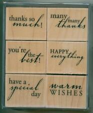 HERO ARTS rubber stamp set EVERYTHING GREETINGS wood mounted, Sentiments, LL155