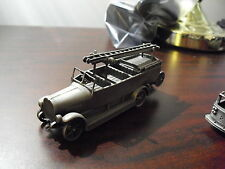 Franklin Mint Pewter Old Fashion Firetruck Fire EngineLook