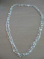 Sterling Silver Vicenza Silver Baguette Link Necklace 20 Inch 16.5 Grams