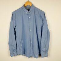 Industrie Mens Button Up Shirt Size Medium Blue Long Sleeve Good Condition