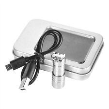Micro mini 500LM XP E2 LED EDC flashlight Keychain SOS emergency Torch +1*10180