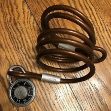 Vintage 1970's Schwinn Approved bicycle security cable with National combo lock