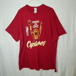 NWT Iowa State University Cyclones NCAA College Football T Shirt Size 2XL XXL
