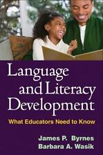 Solving Problems in the Teaching of Literacy: Language and Literacy Development