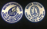 Meter Operations Patch City Of Baltimore Bureau of Water & Waste mgt. Lot of 2