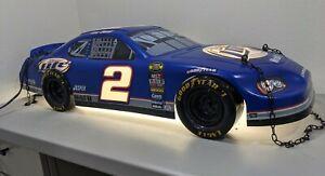 NASCAR Miller Lite Race Car Pool Table Light #2 Kurt Busch Bar RARE