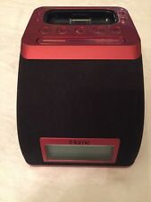 iHome iP21WVC (red/black) iPod/iPhone Alarm Clock Speaker Dock - Exc. Condition