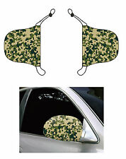 Camouflage Print, Car Mirror Cover, Auto Flag, Chroma Covers FPL
