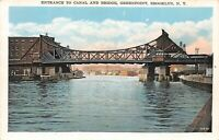 Entrance to Canal and Bridge, Greenpoint, Brooklyn New York Vintage Postcard A05