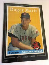 2016 Topps Anthology Silver 5x7 Jumbo 1958 Roger Maris Yankees#'d 17/49