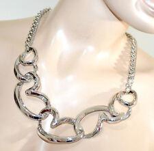 COLLANA girocollo argento cuori catena collier cerimonia san valentino G22