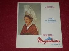[ Arte y Pub, Coll. ] Secante Antiguo Galletas Magdeleine Sombreros Normandia 42