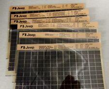 NOS JEEP AMC MICROFICHE FILM 1981 & 1982 CJ & TRUCKS (1 SET OF 6 PAGES)