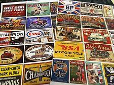 1/10 1/12Th Escala Diorama Retro carteles de garaje (2 hojas) 0026
