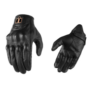 2021 Icon Pursuit Classic Perforated Street Motorcycle Riding Gloves - Pick Size