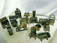 Collection 16 Vintage Durham Industries Metal Bronze Miniatures Doll Holly Hobby