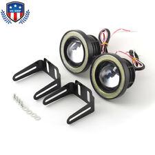 3 Inch White LED Projector COB Angel Eye Fog Light Halo Ring Driving Lamp Kit US