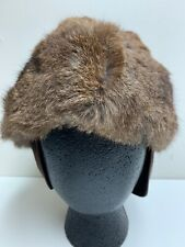 Vintage North King France Rabbit Trapper Bomber Hat Large Unisex RN2121 Small