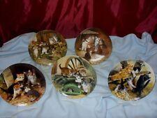 Zeitgenössische Sammel- & Zierteller aus Porzellan mit Katzen-Motiv