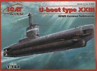 ICM S004 - 1/144 U - Boat Type XXIII. German Submarine, scale plastic model kit