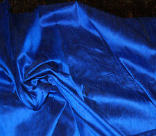100% Natural Silk Indian Dupioni Fabric Royal Blue Luxurious By The Yard SALE