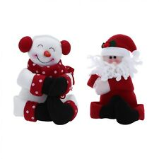 Santa Claus Snowman Hug Red Wine Bottle Cover Bags Dinner Table Decoration Home