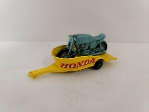 1967 Matchbox #38-C Honda Motorcycle And Trailer