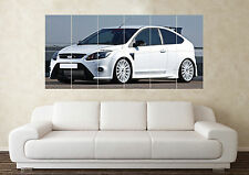 Large Ford Focus RS White Turbo T5 Cosworth  Car Wall Poster Art Picture Print