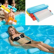 Water Hammock Single People Increase Inflatable Air Mattress Beach Lounger Float