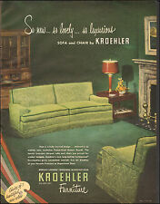 1949`Vintage ad for KROEHLER Furniture`Retro Furniture Photo (080115)