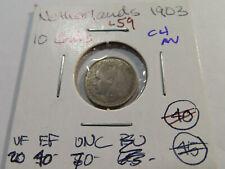 New ListingL59 Netherlands 1903 10 Cents Choice Au