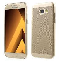 Samsung Galaxy A7 2017 Funda Estuche Móvil Funda Protector Funda Protectora Oro