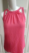 NEW EXPRESS SCOOP NECK BRIGHT PINK SHIRT SIZE XS