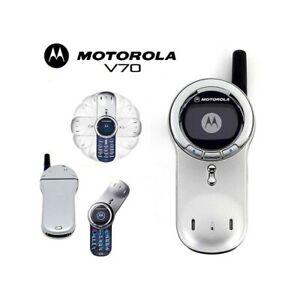 Téléphone Cellulaire Motorola V70 Gsm Bleu Monochrome Remis à Neuf