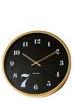 NEW Salt&Pepper Zone 7 Wall Clock, 50cm - Gold
